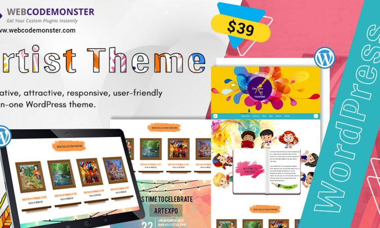 Artists WordPress Theme
